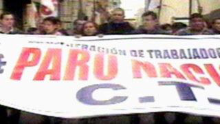 CTP interrumpe el tránsito y se enfrenta a la Policía en el Centro de Lima