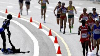 Mundial de Atletismo: corredora se desmaya en plena prueba de maratón