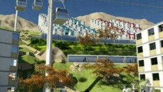 Anuncian la construcción de un teleférico en el Cerro El Agustino