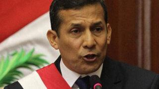 Encuesta GFK: Humala cayó a 26% de aprobación pese a lucha contra terrorismo