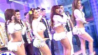 Alma Bella le canta su tema 'Papasito' a los concursantes de Mister Perú Mundo