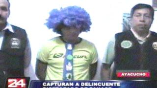 Ayacucho: delincuente disfrazado de payaso roba más de 200 mil soles