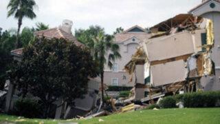 EEUU: socavón traga parte de edificio cerca de Disney World