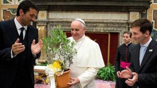 VIDEO: Papa Francisco recibió a Messi y a la selección argentina en el Vaticano