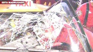 Taxista chocó su auto contra camión recolector de basura tras quedarse dormido