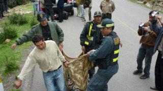 La Oroya: Juez de Paz muere tras choque entre bus y camioneta