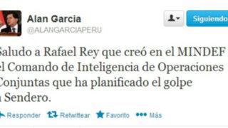 Alan García: Rafael Rey creó comando que planificó el golpe a Sendero