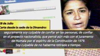 Nancy Obregón: Sacrifiqué a mi familia para que Humala llegue a la presidencia