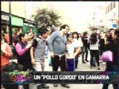 """Un """"Pollo Gordo"""" en Gamarra: Junior Silva se da un baño de popularidad"""