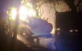 La Oroya: choque de cisterna con tren de carga desata voraz incendio