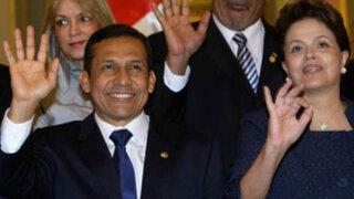 Ollanta Humala mantuvo extensa conversación con Dilma Rousseff en Paraguay