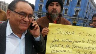Transportistas decidieron suspender marcha de protesta al Congreso