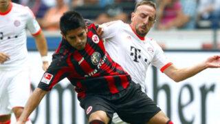 Bayern Múnich de Claudio Pizarro venció 1-0 al Eintracht Frankfut de Zambrano