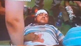 VIDEO: polémica por sujeto que habría fingido herida de bala en el estómago