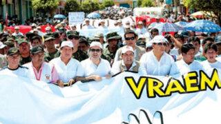 Cientos de pobladores del Vraem marcharon contra el terrorismo en la zona