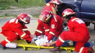 Accidente vehicular en la avenida Petit Thouars deja tres niños heridos