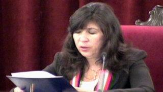 Jueza dirimente Janet Tello decidió inhibirse del caso Myriam Fefer