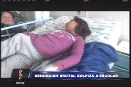 Chosica: niña es golpeada salvajemente al interior de su centro educativo