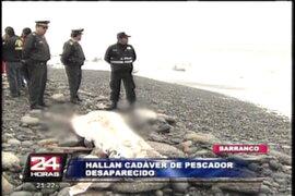 Encuentran en playa Los Yuyos cuerpo de pescador desaparecido