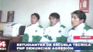 Denuncian a teniente de la PNP que habría agredido físicamente a sus alumnas