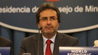 Premier Jiménez pidió a Alan García respeto para el presidente Humala