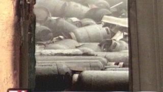 VIDEO: balones de gas explotan dejando tres heridos y graves pérdidas materiales