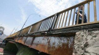 Vecinos advierten colapso del puente Dueñas por falta de mantenimiento