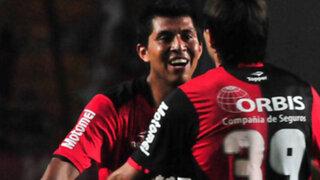 Rinaldo Cruzado anotó un golazo en la victoria del Newell's ante Gimnasia