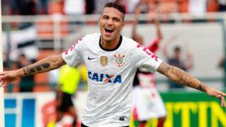 Corinthians y Paolo Guerrero clasificaron a cuartos de final de la copa Brasil