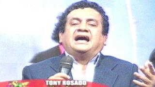 Tony Rosado arrancó la juerga de fin de semana cantando 'Ya te olvidé'