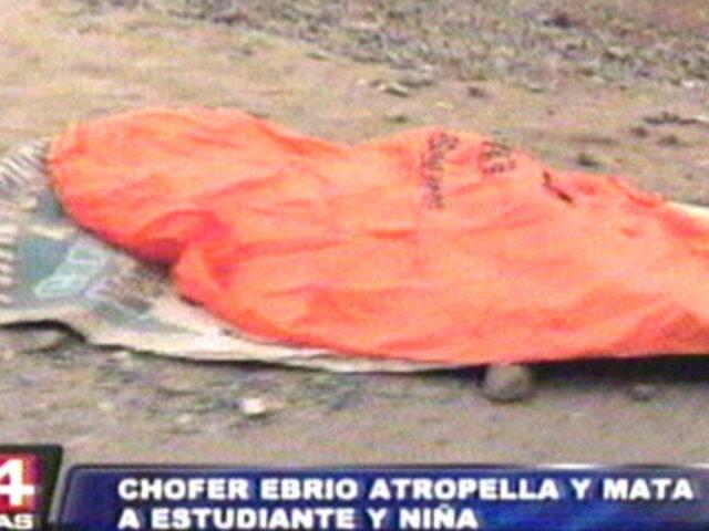 Niña y joven contadora mueren arrolladas por chofer con 98 papeletas