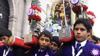 Procesión Infantil del Señor de los Milagros recorrió calles del Centro de Lima