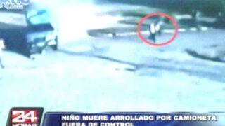 Niño de 11 años muere atropellado por camioneta fuera de control