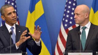 Obama busca apoyo de Suecia en ataque contra Siria previo a cumbre G-20