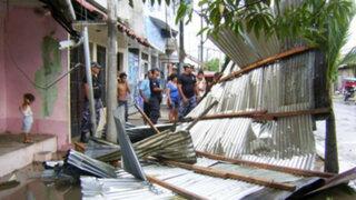Yurimaguas: Al menos once familias resultaron perjudicadas por fuertes vientos
