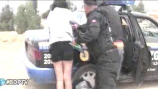 Huancayo: Jóvenes detenidos por tener relaciones sexuales en la vía pública