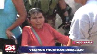 VIDEO: pobladores reaccionaron con violencia ante desalojo en Tingo María