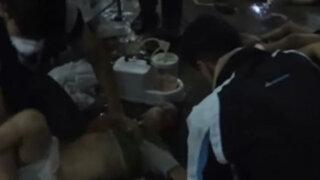 Difunden impactantes imágenes del supuesto ataque químico en Siria