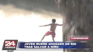 Yurimaguas: joven muere ahogado en rio tras rescatar a un niño