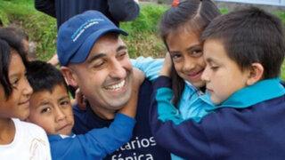 Voluntarios extranjeros llevaron alegría y esperanza a escolares en Huancayo