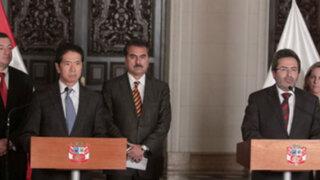 Juan Jiménez se reunió con Fuerza Popular en Palacio de Gobierno