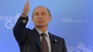 Vladimir Putin culpó a rebeldes sirios por ataques químicos contra civiles