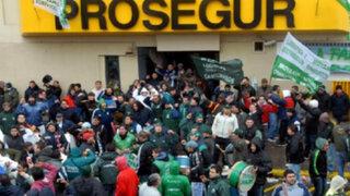Trabajadores de conocida empresa de seguridad acatan huelga nacional