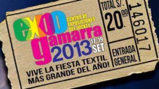Empresarios realizarán el Expo Gamarra 2013 desde el 17 al 19 de setiembre