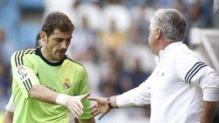 Ancelotti aseguró que Casillas atajará en dos partidos de la Liga