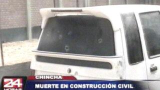 Encapuchados asesinan a dirigente de construcción civil en Chincha