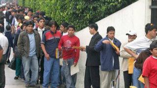 INEI: desempleo en Lima Metropolitana se redujo en últimos 12 meses