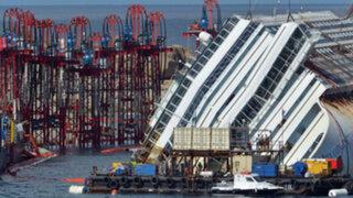 Italia: hallan dos cuerpos en el interior del reflotado crucero Costa Concordia