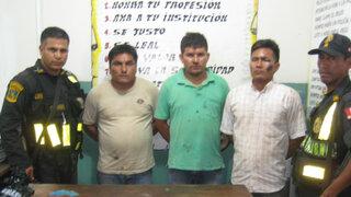 Policía logro capturar a banda 'Los malditos de Pucallpa' en Tarapoto