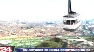 Teleférico que llegará al cerro San Cristobal iniciará construcción en octubre